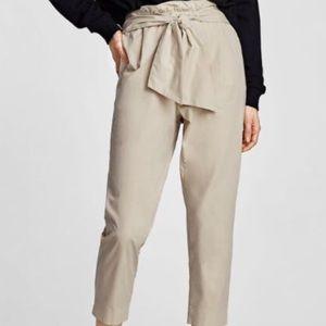 Zara Pants - Zara Basics tie pants